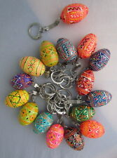 Small Pysanka/ Wooden Easter Eggs, Keychain, Souvenir