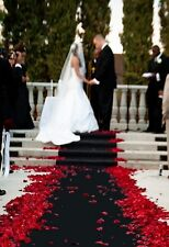 Black 100 FT  Aisle - Event Runner ~ Puncture Resistant!  Wedding ~ Graduation