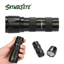9000LM LED Flashlight Lamp Torch Light With Clip Penlight AAA Black Ourdoor@