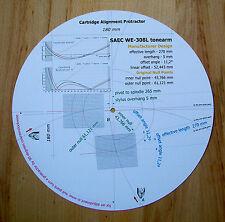 SAEC we-308l TONEARM personalizzato progettato PHONO CARTRIDGE Stylus Goniometro tracciato
