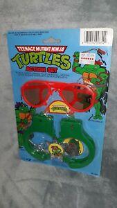 Vintage 1988 Teenage Mutant Ninja Turtles Action Set vtg handcuffs badge tmnt