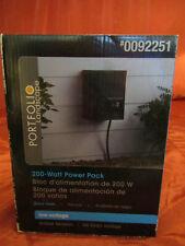 Portfolio Outdoor 200W Magnetic Power Pack Model # Ee0124Bk Metal Construction