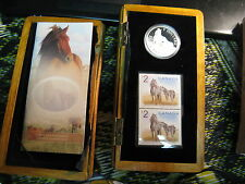 2006 Canada Coin & Stamp Mint Set Horse $5 Silver Gem.