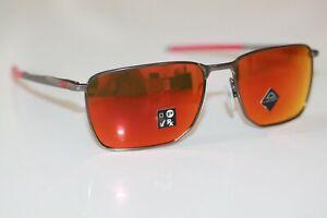 Oakley EJECTOR Sunglasses OO4142-0258 Matte Gunmetal Frame W/ PRIZM Ruby NEW
