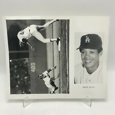 "MAURY WILLS - Los Angeles Dodgers Baseball - 2 Photographs on 8"" x 10"" Page"