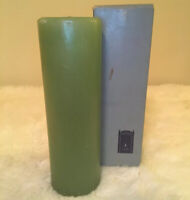 """VTG Retro BLUEGATE CANDLE Teal Green Pillar 9 x 3"""" New Old Stock"""