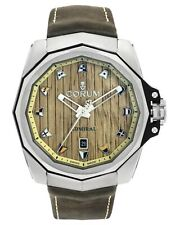CORUM ADMIRAL 45 DATE  - THREE HANDS & WOOD DIAL - AUTOMATIC MEN'S WATCH $5,450