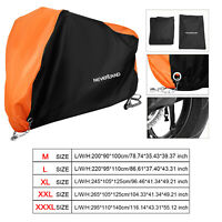 Motorcycle Cruiser Scooter Outdoor Waterproof Cover Anti Dust Rain UV Protection