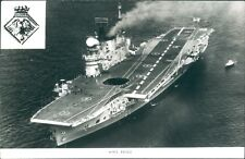 Postcard Sized Photo Royal Navy Aircraft Carrier HMS Eagle