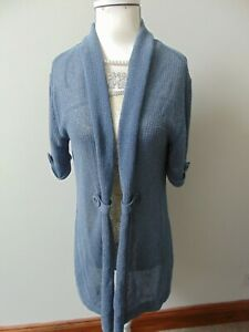 Gerry Weber Blue Cardigan Top Short Sleeved Top Size 12 Used