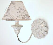 Wandlampe Leuchte Lampe Camille Creme Vintage Shabby Chic Landhaus Stil NEU