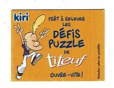 KIRI défis puzzle de TITEUF Zep Glénat