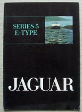 JAGUAR E TYPE Series 3 Car Sales Brochure March 1971