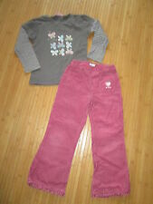 Lot Pantalon en jean +Tee-shirt ML,T6ans,marques Vertbaudet/NKY,TBE