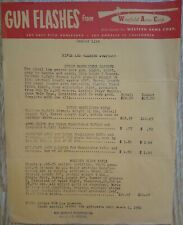 1952 Dealer List Gun Flashes From Winfield Arms Corp Rifle & Carbine Specials