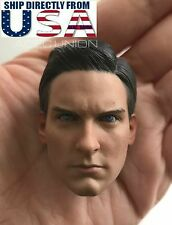 1/6 Spider-Man Tobey Maguire Head Sculpt 2.0 For Hot Toys PHICEN Male Figure USA