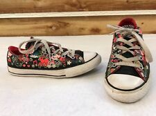 Converse All Star Chuck Taylor Pony Skull Kitten Shoes Youth Size 3