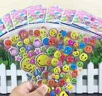 Cute 100sheets Smile Stickers Lot Kindergarten  Teacher Reward Kids Xmas Gift Us