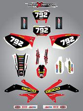 Full Custom Graphic Kit Honda CRF 450X 2005 / 2015 SONIC style stickers / decals