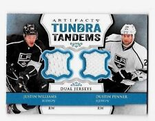DUSTIN PENNER,& J.WILLIAMS 2013-14 ARTIFACTS TUNDRA TANDEMS DUAL GAME JERSEYS