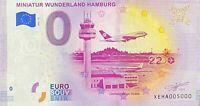 BILLET 0  EURO MINIATUR WUNDERLAND HAMBURG ALLEMAGNE 2020 NUMERO 5000
