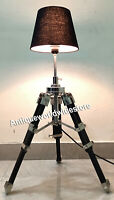 Nautical Designer Marine  Table Lamp  Wooden Tripod Home Decor
