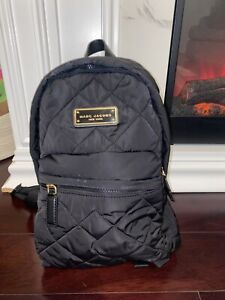 Marc Jacobs Quilted Nylon School Backpack Black