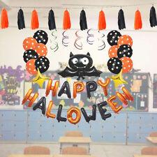 Halloween Balloons Set Décoration Hanging Spooky Bat Tassel Party Favors