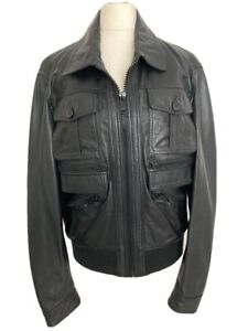 Men's Homage Hedi Slimane Style2006 Leather Bomber Jacket. Size M. Immaculate.