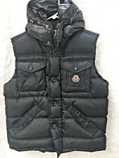 Moncler Down Vest Hooded 3 Certilogo NWOT Black Medallion  Men's Women's Jacket