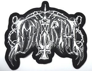 IMMORTAL WHITE   SHAPED  LOGO   EMBROIDERED PATCH