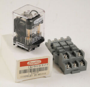 Dayton Electrical Relay 5X8337F w/ Connector Block New