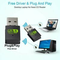 USB2.0 WiFi Dual Band Wireless External Receiver Adapter For PC .