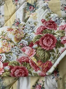 """Waverly Long Curtain Panels 42x84"""" Floral Roses Shabby Cottage"""