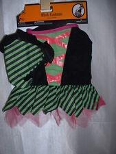 "2 piece Dog Pet Witch Halloween Costume M Medium 14"" - 15"" New Pekingese"