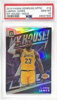 LEBRON JAMES 2019 PANINI DONRUSS OPTIC MY HOUSE HOLO #13 PSA 10 GEM MINT RARE