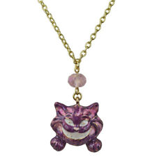 Kirks Folly Cheshire Cat Necklace  (Silvertone) Alice in Wonderland