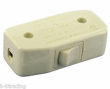 Leviton Ivory In Line 3A 1/2HP 125V In-line Cord Switch 5410-I