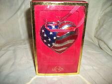 Lenox Heart of America silverplate ornament Nib