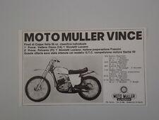 advertising Pubblicità 1973 MOTO MULLER 50