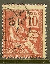 """FRANCE TIMBRE STAMP N°112 """"TYPES MOUCHON, 10 C ROSE"""" OBLITERE TB"""