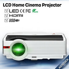 Full HD LED Home Cinema Projector Game Backyard Movie HDMI USB VGA AV 5000Lumen