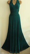 ᴥᴥFAB MONSOON SUNSET SZ 14 ORIANE TEAL GREEN MAXI DRESS HALTERNECK EVENING PARTY