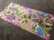 Kinderteppich Spielteppich Mädchen Pink Straßenteppich Straße Rosa Teppich Kids