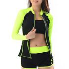 Belleap Rash Guard Womens Zip-Up Long Sleeve Swimwear UV Protection 0329