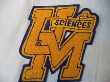 Vintage Felt Jacket Patch UM Sciences University Gold Blue