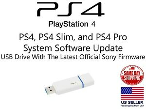 PLAYSTATION 4 PS4 UPDATE INSTALL USB FLASH DRIVE LATEST OFFICIAL SONY FIRMWARE