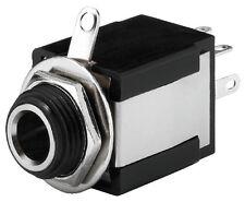 T-637SI 6,3-mm Klinken-Einbaubuchse Stereo isoliert Schalter 2 x Ein