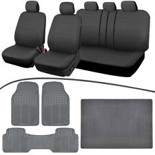 Auto Car Seat Covers, All Weather Floor Mats, Cargo Liner Front & Rear All Gray