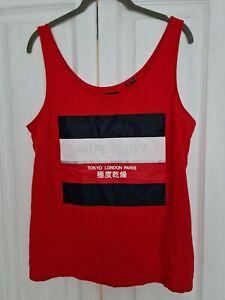 Superdry Vest Top ~ RED ~ NWOT ~ Size L